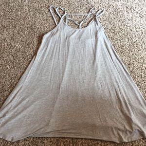 Dresses & Skirts - Gray strappy flowy dress